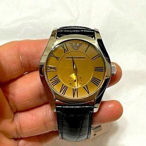 Emporio Armani #AR0645 Genuine Leather Waist Watch